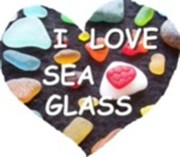 I LOVE SEA GLASS HEART East Coast sea glass