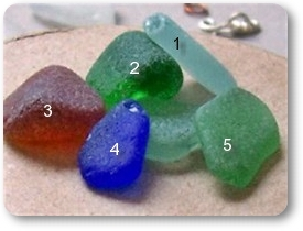 Jewelry grade B sea glass