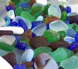 Detail of Colors from Glass Beach