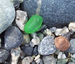 North Beach Green Sea Glass