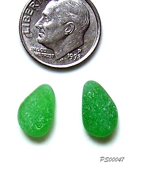 Green Sea Glass Earring Sets