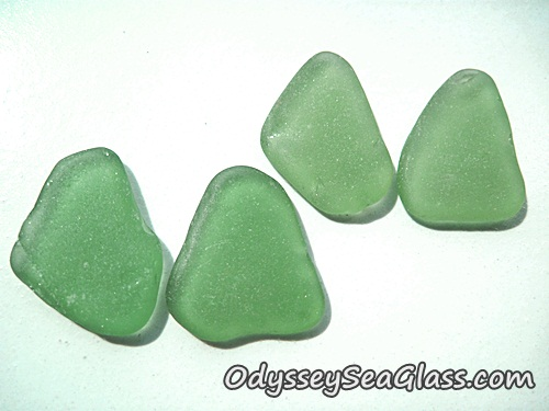 Green Sea Glass Earring Sets