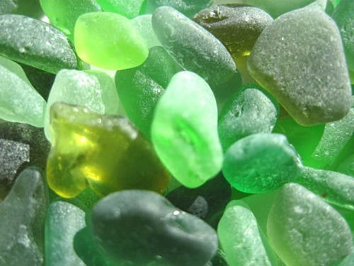 Green Sea Glass for sale