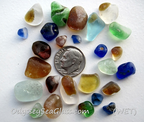 Mixed Rare Sea Glass Fire Melt Bonfire