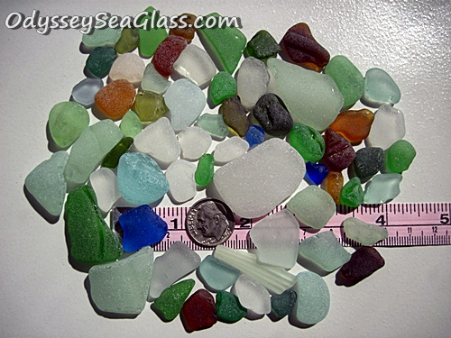 mixed colors craft sea glass
