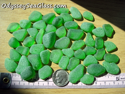 Green Jewelry Grade sea glass