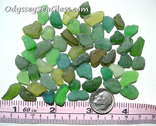 Green Craft-Grade Sea Glass