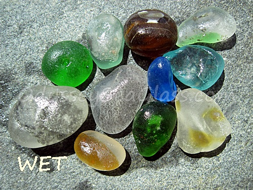 mixed colors firemelt bonfire sea glass