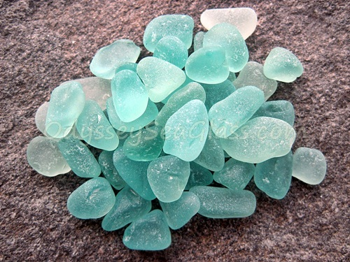 Turquoise Jewelry-Grade Sea Glass