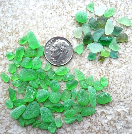 Green Craft-Grade Sea Glass
