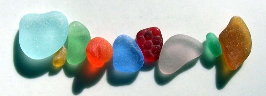 Rare beach glass colors