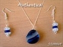 sea glass jewelry earrings and pendant sets