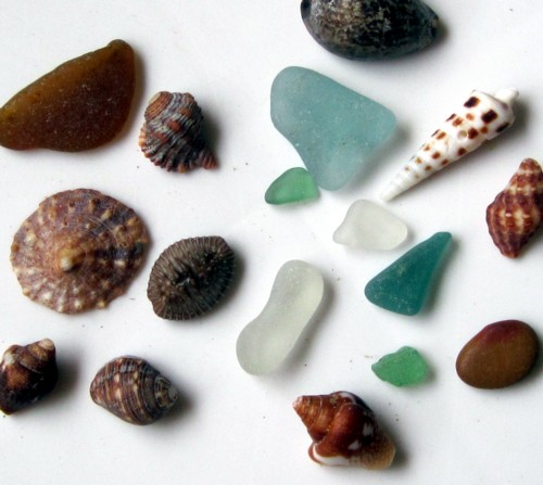 Sea Glass and Shells Pta Velero Peru