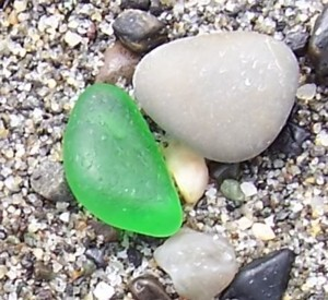 Mmmm Green beach glass