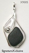 Rare Black Sea Glass Pendant Scotland