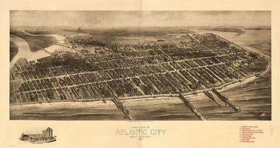 Atlantic City New Jersey and Inlet - 1909