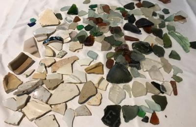Akarowa Sea Glass and Pottery Shards