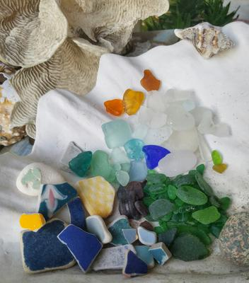 All in a day's search - Malibu California sea glass