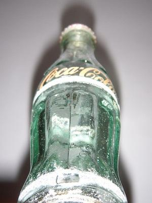 This is not the bottle piece found - Sample of an old Coke bottle Atlantic City