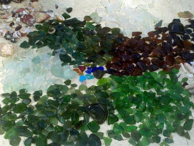 Sea Glass Barbados Caribbean
