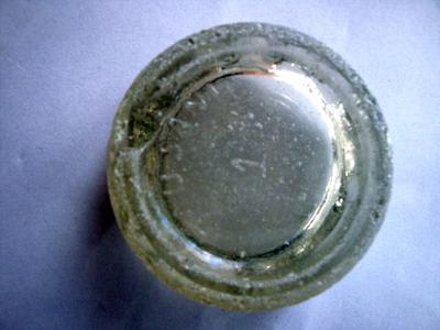 how to break the bottom of a glass bottle
