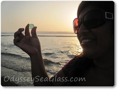 Vanesa's first day of beach glass collecting
