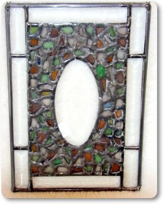 Beach Glass Picture Frame