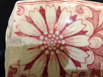 Can you help Ben identify this beautiful beach pottery shard?