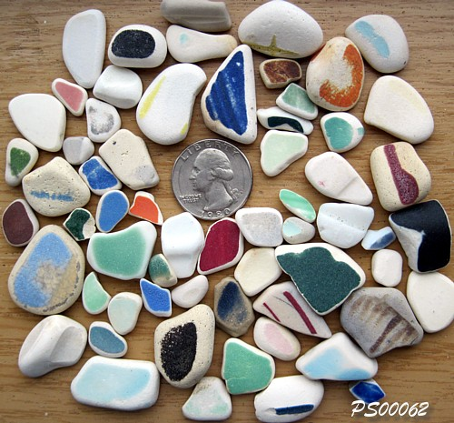 Beach Pottery Shards - Tokeland, Washington, USA
