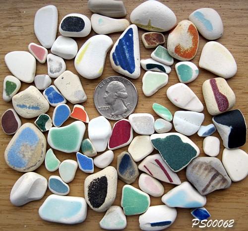 Beach Pottery Shards - Tokeland, Washington, USA