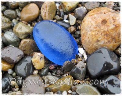 Beautiful Blue Sea Glass