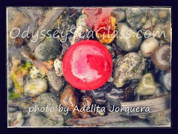 beautiful red sea glass marble adelita