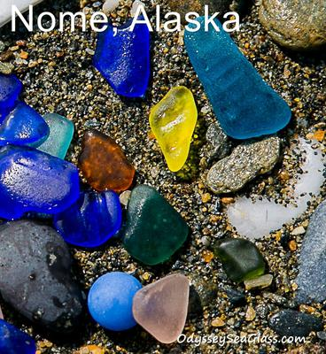Nome beach glass details