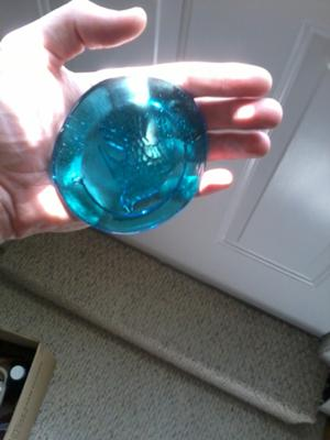 Best Blue Glass Ever Found  - June 2012 Sea Glass Photo Contes