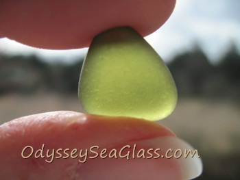 Black sea glass - dark olive from Italy