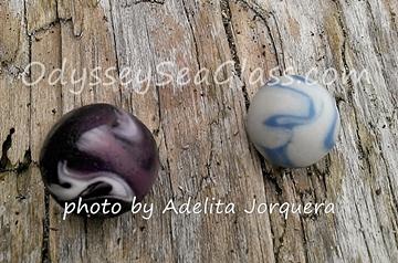 black swirl blue adelitas marbles