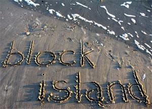 Block Island Beach Sand Writing