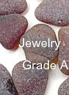 Brown Sea Glass - Jewelry Grade A