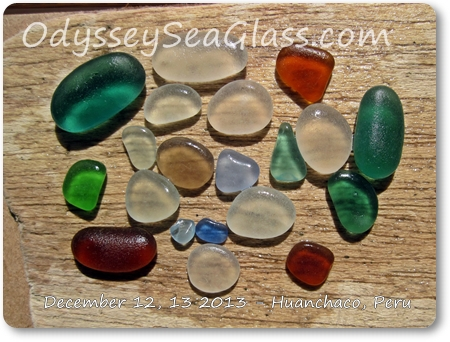 sea glass catch friday 13 december huanchaco peru