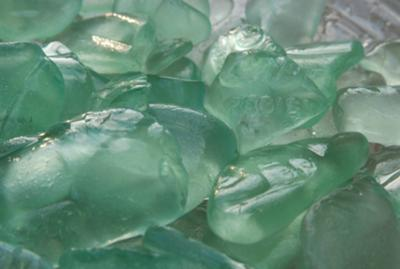 Cola Seafoam Finds - July 2012 Sea Glass Photo Contest