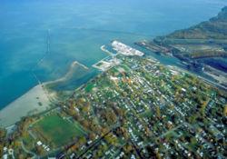 Conneaut Beach Aerial View (Wikipedia)