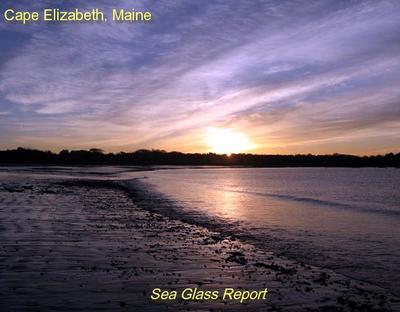 Crescent Beach, Cape Elizabeth, Maine - Sea Glass Beach Report