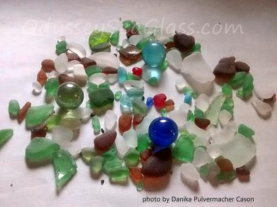2 - Latest beach glass haul from Doctors Park