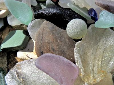 Sea Glass Drying in the Sun