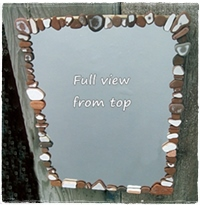 Easy DIY Beach Finds Mirror - Sea Glass, Driftwood, etc