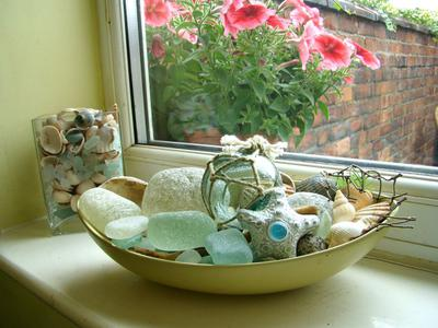 My favorite English Sea Glass Display