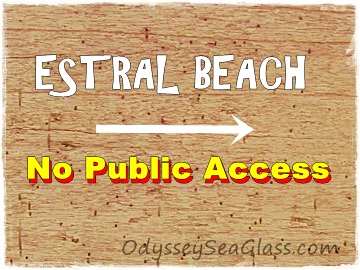There is no public access to Estral Beach, Michigan