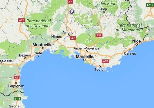 Map Of France Mediterranean Coast.Sea Glass Mediterranean