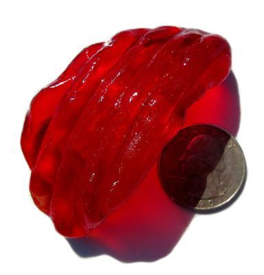 Monster Red-Orange Fresnel Lantern Lens