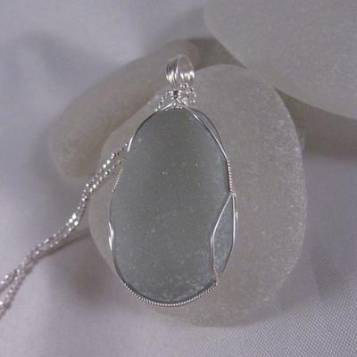 Glistening Grey Sea Glass Jewelry